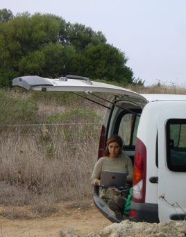 Dr. Francesca Cotrufo doing field work