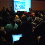 Packed crowds waiting to hear Dr. Dan Simberloff