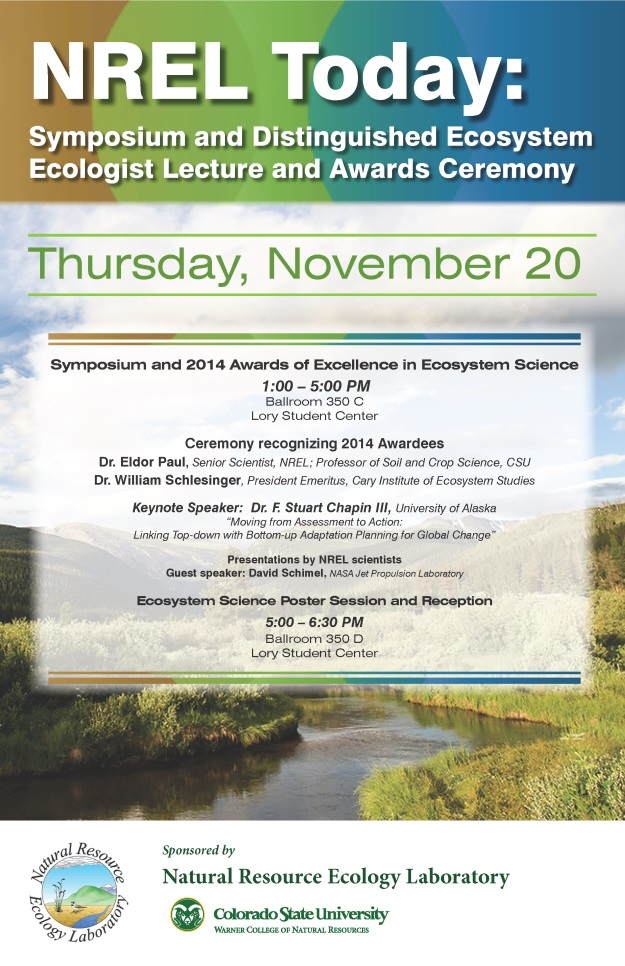 NREL-2014_Symposium_and_Distinguished_Ecologist_Lecture_poster