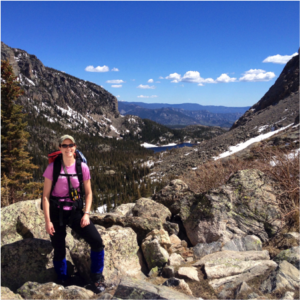 Helping the Loch Vale Watershed group at CSU with data collection in Rocky Mountain National Park in May 2014