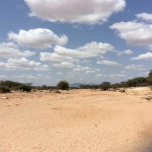 Dry river in Samburu County, Kenya