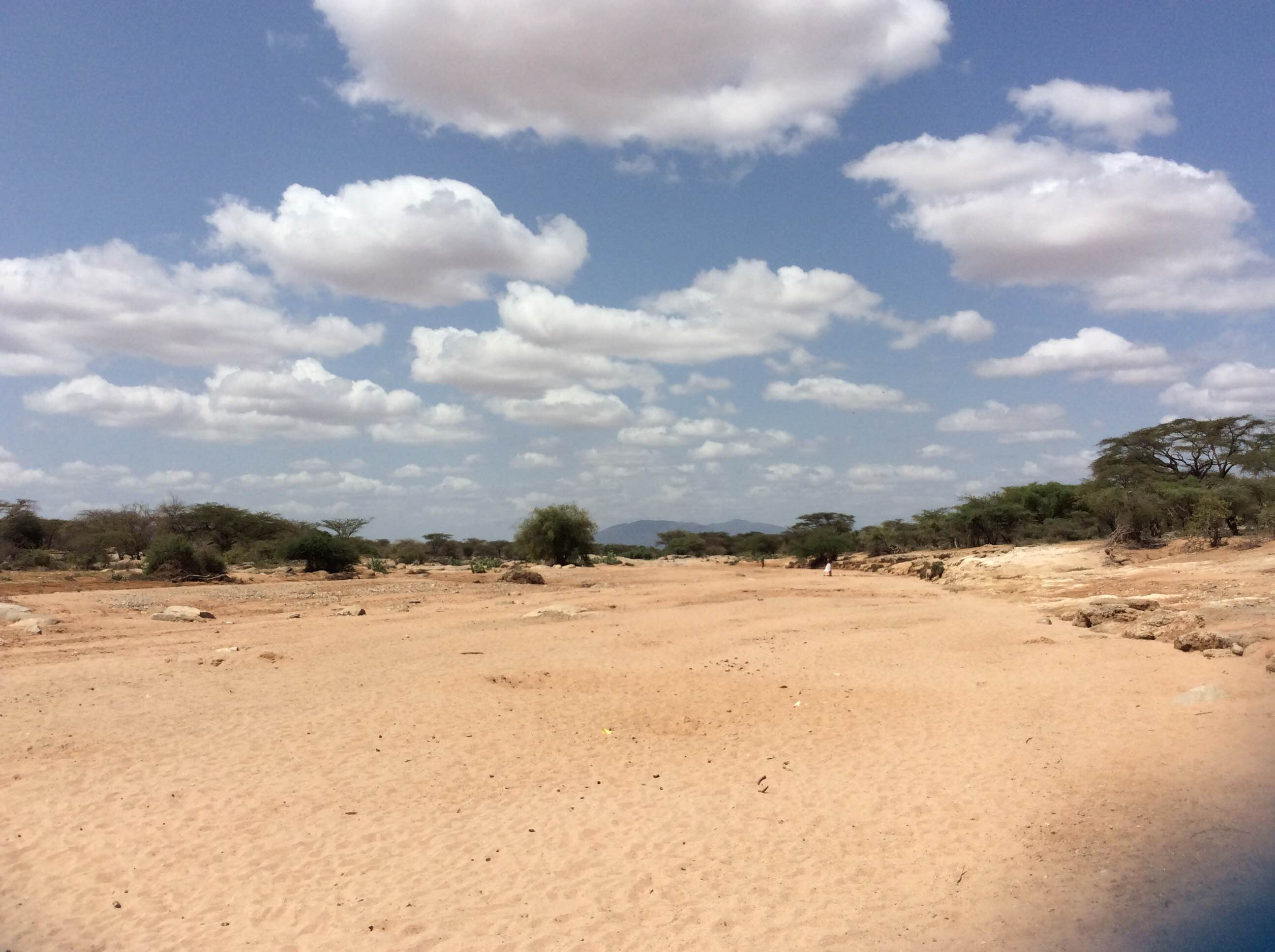 Dry river in Samburu County, Kenya