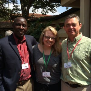 Hollie Skibstead (middle) with her mentors Daniel Moriasi (left) and Alan Verser (right)