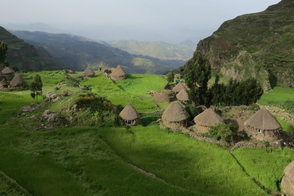 High mountain homes in Ethiopia
