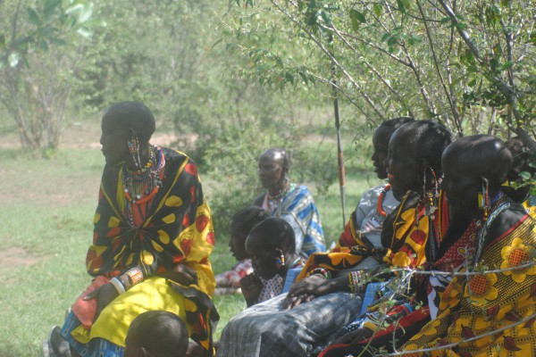 Maasai women in focus group.