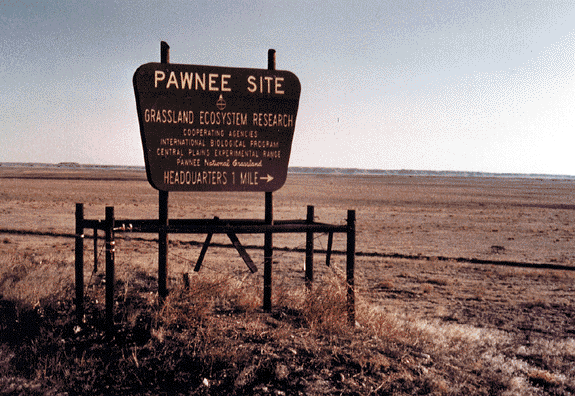 Pawnee National Grasslands sign