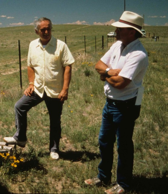 Tom Callahan from NSF and Robert (Bob) Woomansee at Pawnee site
