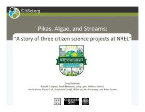 2017 Colloquium: Greg Newman- Pikas, Algae, and Streams