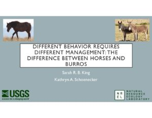 2017 Colloquium: Sarah King- Different Behavior Requires Different Management