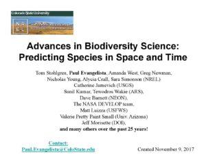 2017 Colloquium: Tom Stohlgren- Advances in Biodiversity Science