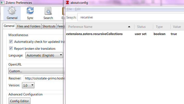 Zotero tutorial screenshot