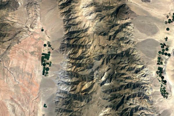 Remote sensing image of land.