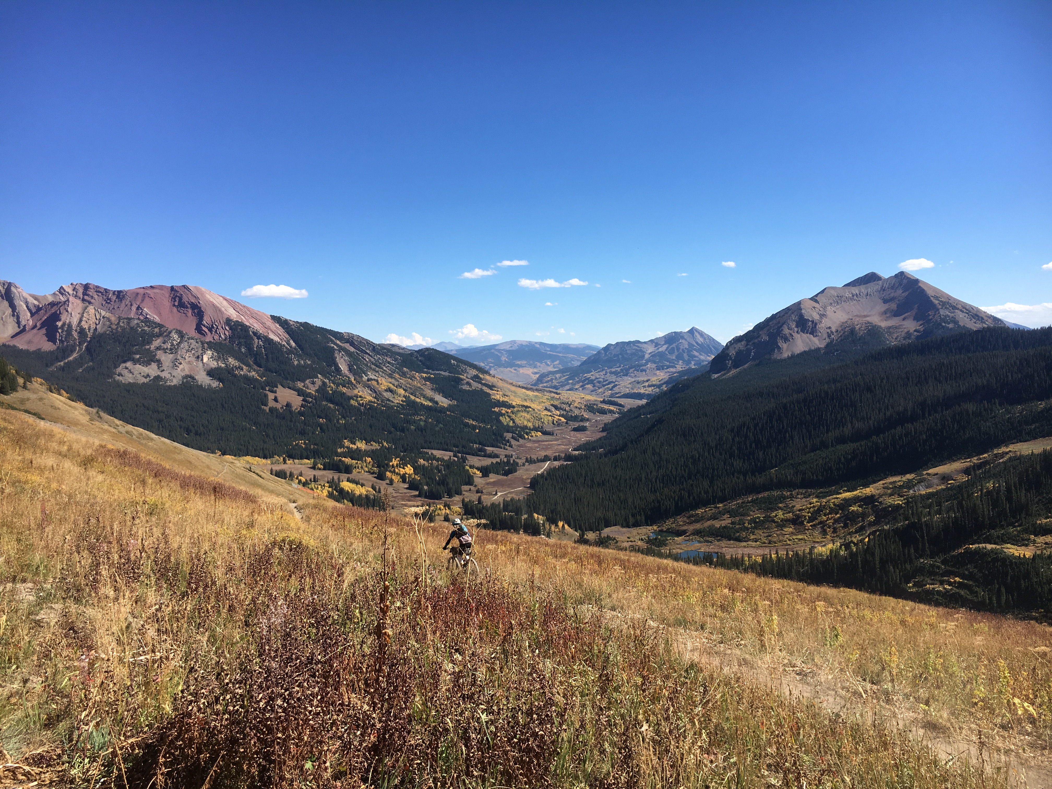 Gothic, Colorado viewed from the 401 trail near Schofield Pass