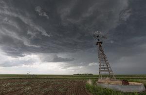 Windmill on plains