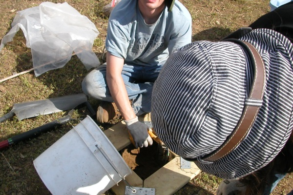 Collecting measured soil samples