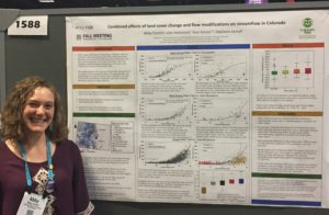 Abby Eurich with poster at AGU