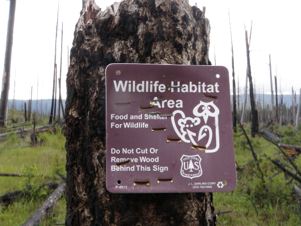 wildlife habitat area sign