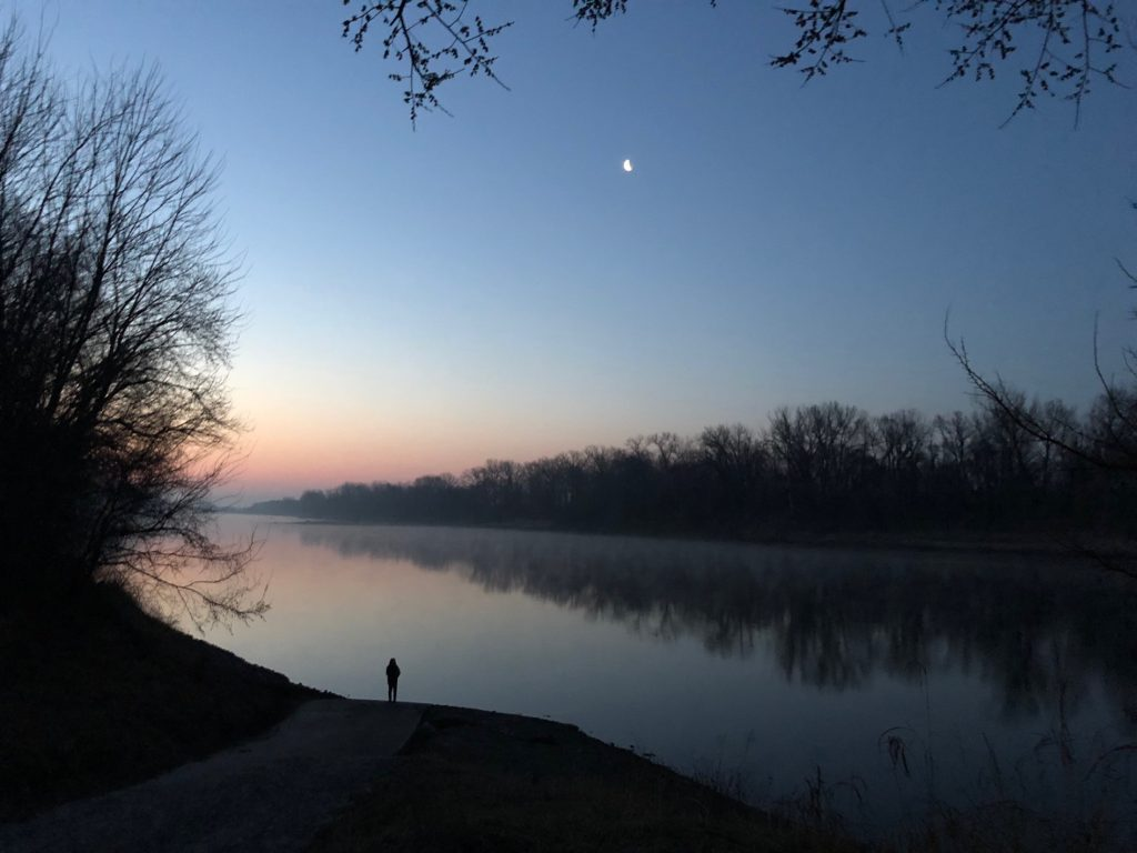 Dawn on the Kaw River