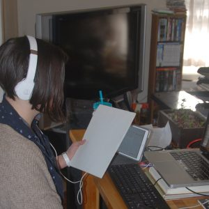 Theresa prepares virtual defense seminar